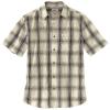 Carhartt Men's Essential Plaid Open Collar SS Shirt - Large Regular - Oyster White