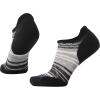 Smartwool Women's PhD Run Light Elite Striped Micro Sock - Medium - Black / Light Gray