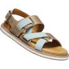 Keen Women's Lana Z Strap Sandal - 7 - Plaza Taupe / Blue Surf