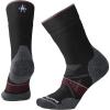 Smartwool Women's PhD Outdoor Medium Crew Sock - Small - Black / Tibetan Red