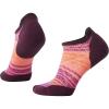 Smartwool Women's PhD Run Light Elite Striped Micro Sock - Medium - Bordeaux