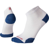 Smartwool PhD Run Ultra Light Low Cut Sock - XL - White/Alpine Blue