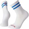 Smartwool Men's Athletic Light Elite Stripe Crew Sock - Small - Bright Blue