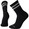 Smartwool Men's Athletic Light Elite Stripe Crew Sock - Large - Black
