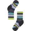 Smartwool Kids' Hike Medium Margarita Crew Sock - Small - Charcoal/Smartwool Green