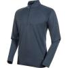 Mammut Men's Aegility Half Zip Longsleeve Shirt - Medium - Marine Melange