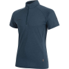 Mammut Men's Aegility Half Zip T-Shirt - Medium - Marine Melange