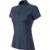 Mammut Women's Aegility Half Zip T-Shirt - Medium - Marine Melange