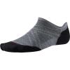 Smartwool PhD Run Light Elite Micro Sock - Medium - Light Gray / Black