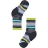 Smartwool Kids' Hike Medium Margarita Crew Sock - Medium - Charcoal/Smartwool Green