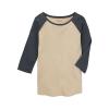Burton Women's Caratunk Raglan Top - Medium - Creme Brulee/Dark Slate