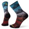 Smartwool Men's PhD Cycle Ultra Light Mountain Mesh Printed Crew Sock - Large - Capri