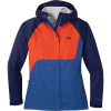 Outdoor Research Women's Apollo Jacket - Large - Twilight / Chambray / Lava