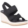 Merrell Women's Kaiteri Wedge Strap Sandal - 5 - Black