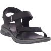 Merrell Men's Tideriser Luna Strap Leather Sandal - 15 - Black