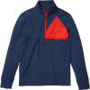 Marmot Men's Hanging Rock Half Zip Top - Large - Arctic Navy / Victory Red