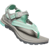 Keen Women's Terradora II Toe Post Sandal - 8 - Light Grey / Ocean Wave