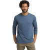 Prana Men's Prana LS Crew- Standard Tall - Small Tall - Denim Heather