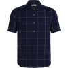 Icebreaker Men's Compass SS Shirt - Large - Midnight Navy / Monsoon