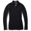 Smartwool Women's Merino Sport 250 LS 1/4 Zip Top - Large - Black