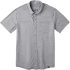 Smartwool Men's Merino Sport 150 SS Button Down Top - Small - Light Grey Heather