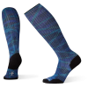 Smartwool Men's Compression On The Move Printed Over The Calf Sock - Medium - Alpine Blue