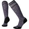 Smartwool Women's Compression Cruise Director Printed Over The Calf So - Small - Charcoal