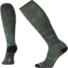 Smartwool Men's Compression Making Tracks Printed Over The Calf Sock - Large - Charcoal