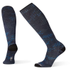 Smartwool Men's Compression Making Tracks Printed Over The Calf Sock - Large - Deep Navy