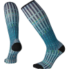 Smartwool Women's Compression Virtual Voyager Printed Over The Calf So - Medium - Wave Blue