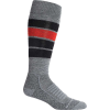 Icebreaker Men's Ski+ Medium Over The Calf Heritage Stripe Sock - Medium - Gritstone Heather
