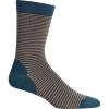 Icebreaker Lifestyle Fine Gauge Crew Micro Stripe Sock - L/XL - Nightfall