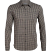 Icebreaker Men's Compass Flannel LS Shirt - Medium - Monsoon / British Tan