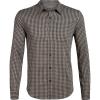 Icebreaker Men's Compass Flannel LS Shirt - Small - Monsoon / British Tan