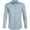 Icebreaker Men's Compass Flannel LS Shirt - Medium - Waterfall / Enamel