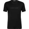 Icebreaker Men's Tech Lite SS Crewe - Icebreaker Wordmark - Large - Black