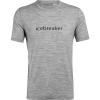 Icebreaker Men's Tech Lite SS Crewe - Icebreaker Wordmark - Medium - Metro Heather
