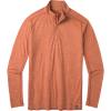 Smartwool Men's Merino Sport 150 Quarter-Zip - Large - Bombay Brown Heather