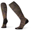 Smartwool Men's Compression On The Move Printed Over The Calf Sock - Large - Bordeaux