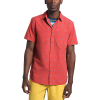 The North Face Men's Baytrail Jacq SS Shirt - XXL - Sunbaked Red North Star Clip Jacquard