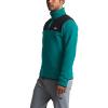The North Face Men's TKA Glacier Snap-Neck Pullover - XL - Fanfare Green / TNF Black