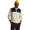 The North Face Men's TKA Glacier Snap-Neck Pullover - Medium - Vintage White / TNF Black