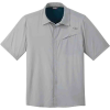 Outdoor Research Men's Astroman SS Sun Shirt - Small - Solid Light Pewter