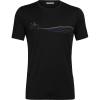 Icebreaker Men's Tech Lite SS Crewe - Cadence Paths - Large - Black
