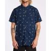 Billabong Men's Sundays Mini SS Shirt - Medium - Navy