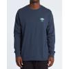 Billabong Men's A Frame LS T-Shirt - XL - Navy