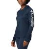 Columbia Women's Tidal Tee Hoodie - 3X - Collegiate Navy / White