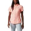 Columbia Women's Lo Drag SS Shirt - XS - Tiki Pink
