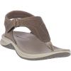 Merrell Women's Tideriser Luna T-Strap Leather Sandal - 5 - Brindle