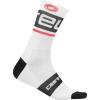 Castelli Men's Free Kit 13 Sock - Large / XL - White/Black